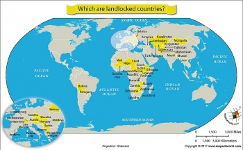 The List of More Than 40 Landlocked Countries in the World Today