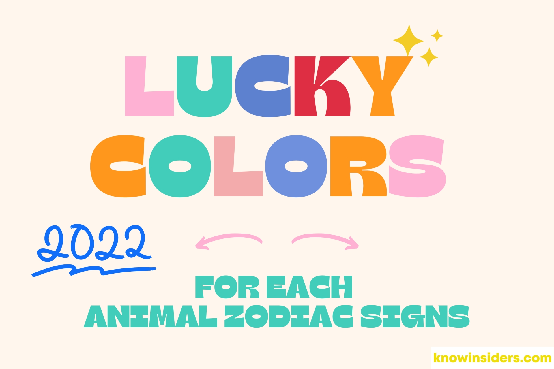 Year of Tiger 2022 – Lucky Colors for 12 Animal Signs