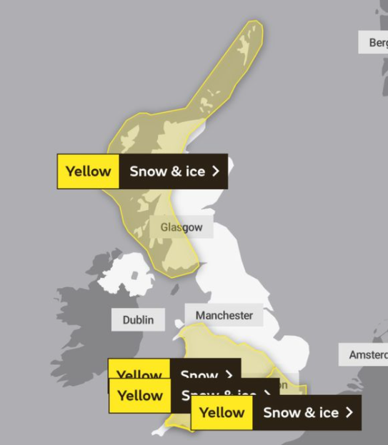 UK and Europe Weather forecast Latest (Jan 25): London blanketed with 10cm of snow