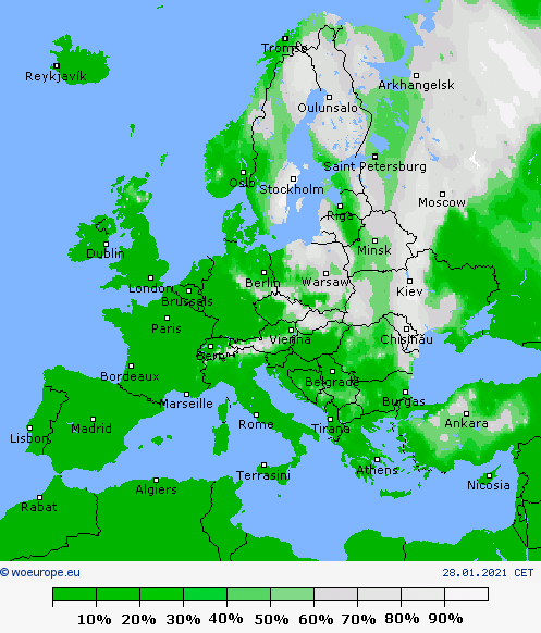 UK and Europe Weather (Today Jan 29):  Big snow braces Britain, fair for much of Mediterranean
