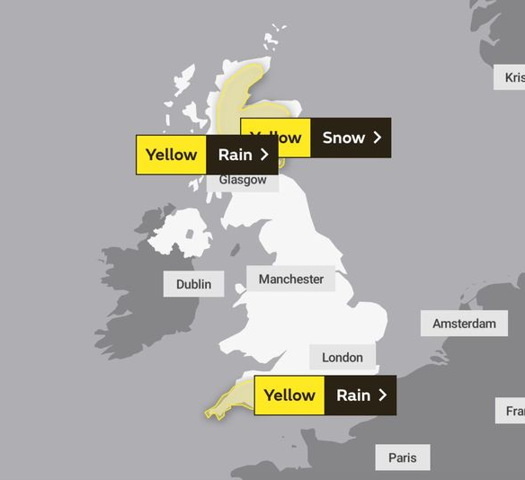 UK and Europe Weather forecast Today (Jan 30): Strong winds across UK, rain in northern Spain