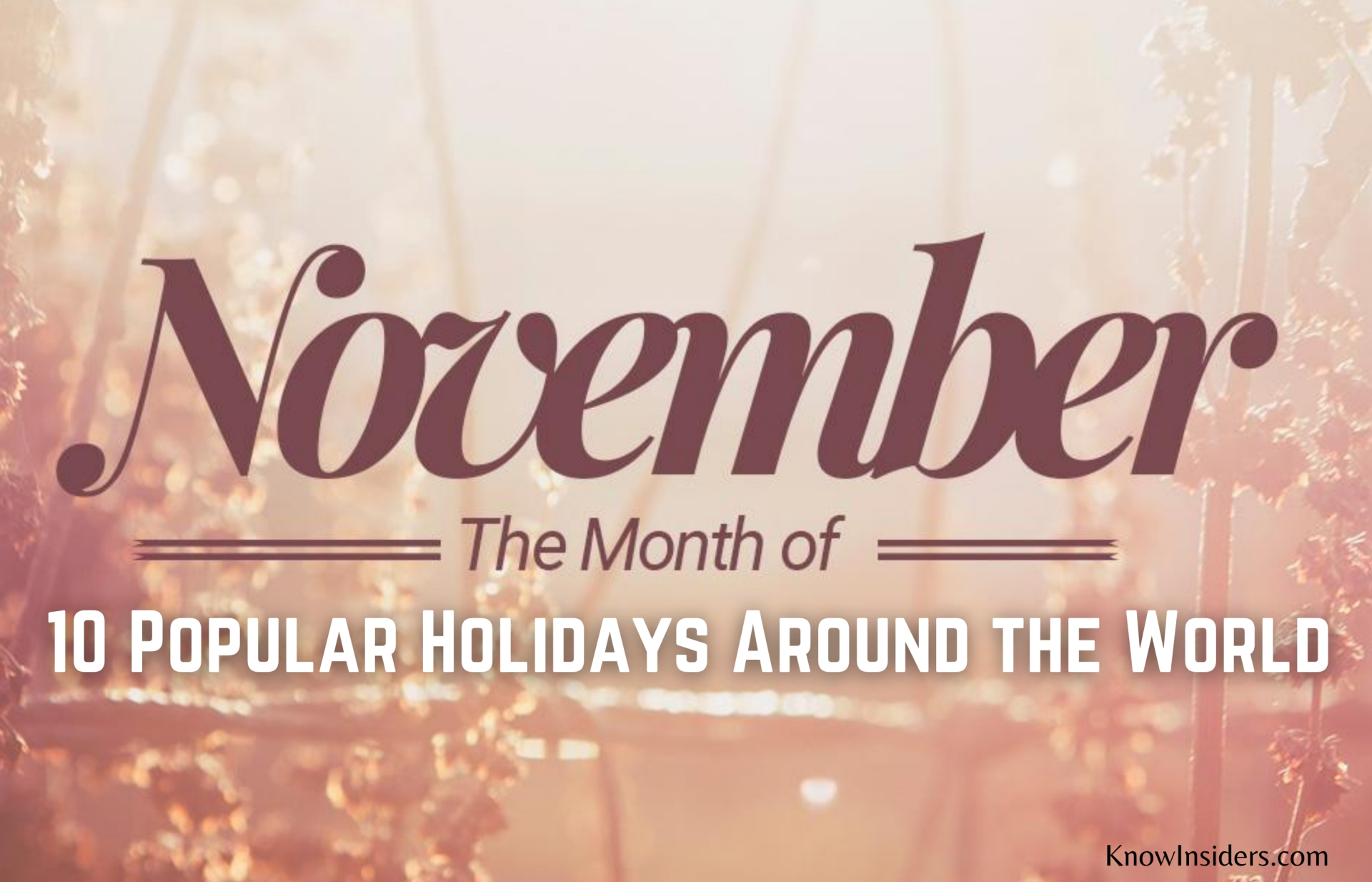 Top 10 Most Popular Holidays in November Around The World