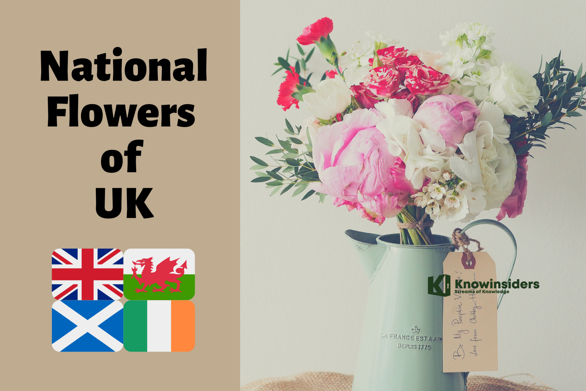 What are the National Flowers of UK?