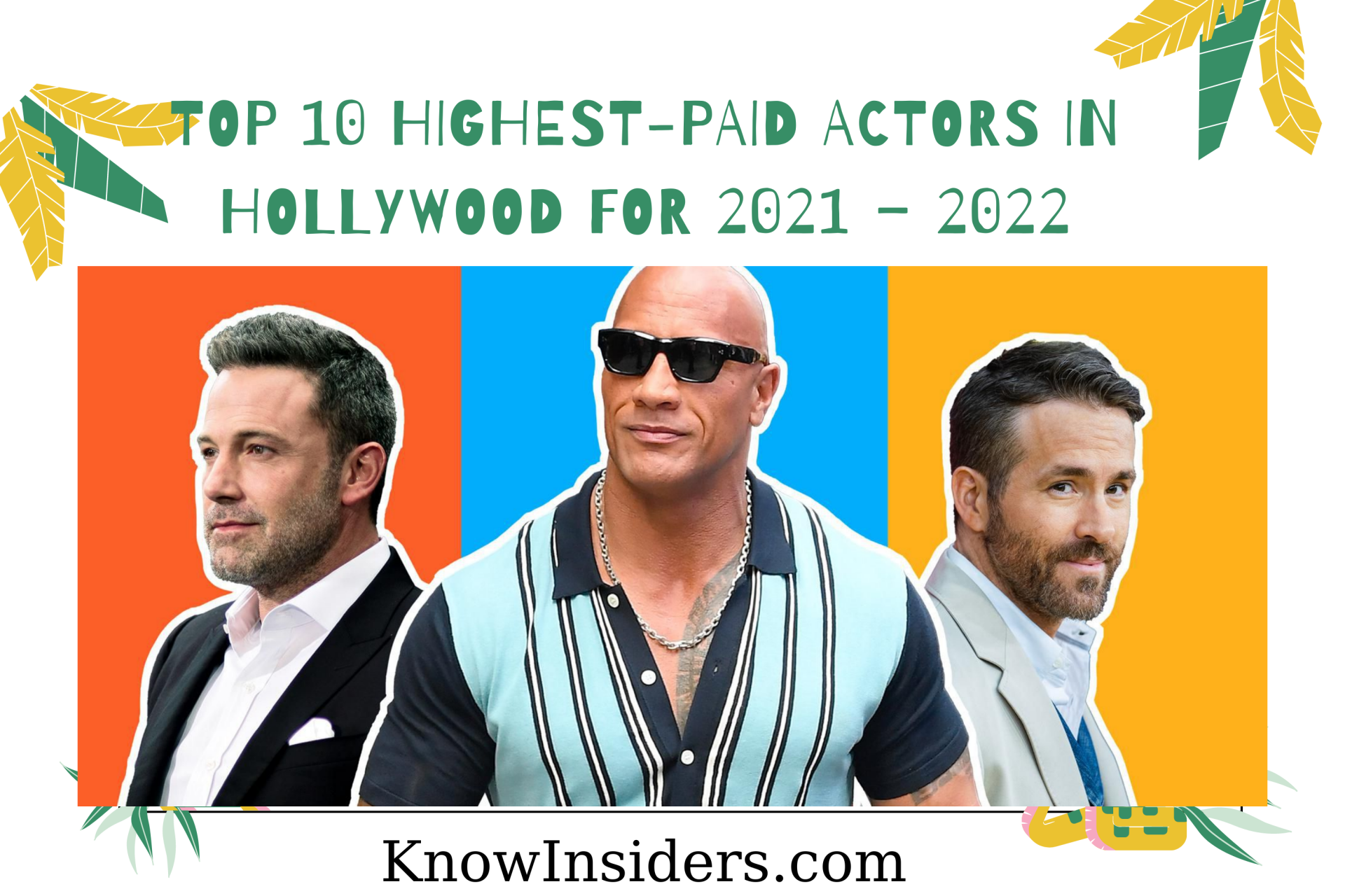 Top 10 Highest-Paid Actors in Hollywood for 2021/2022