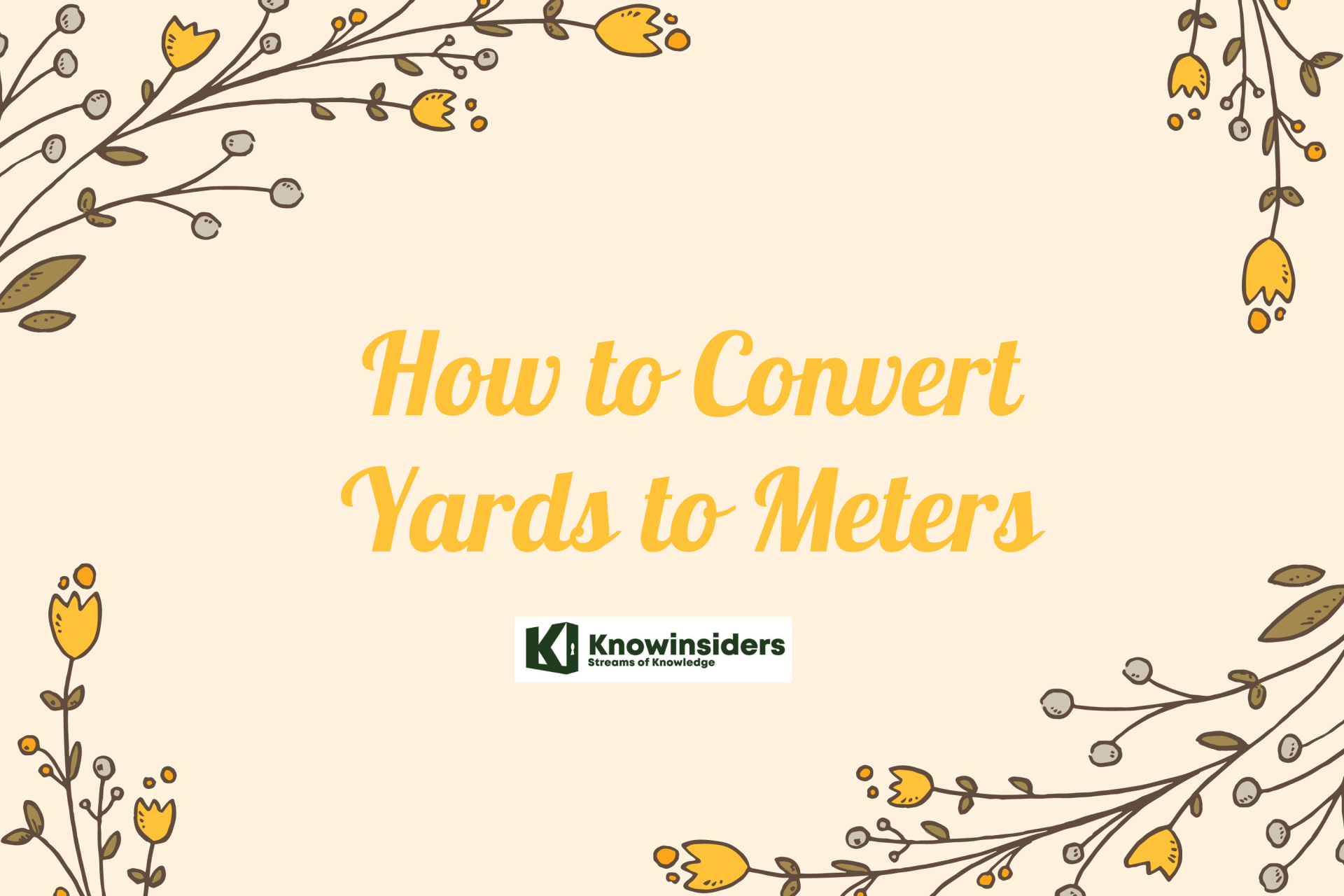 How to Convert Yards to Meters: Check Simple Steps