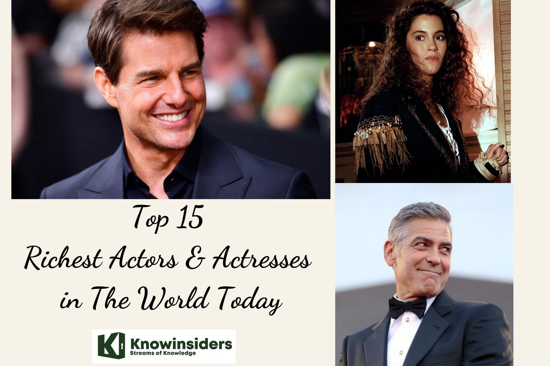 Richest actors & actresses. Photo: KnowInsiders
