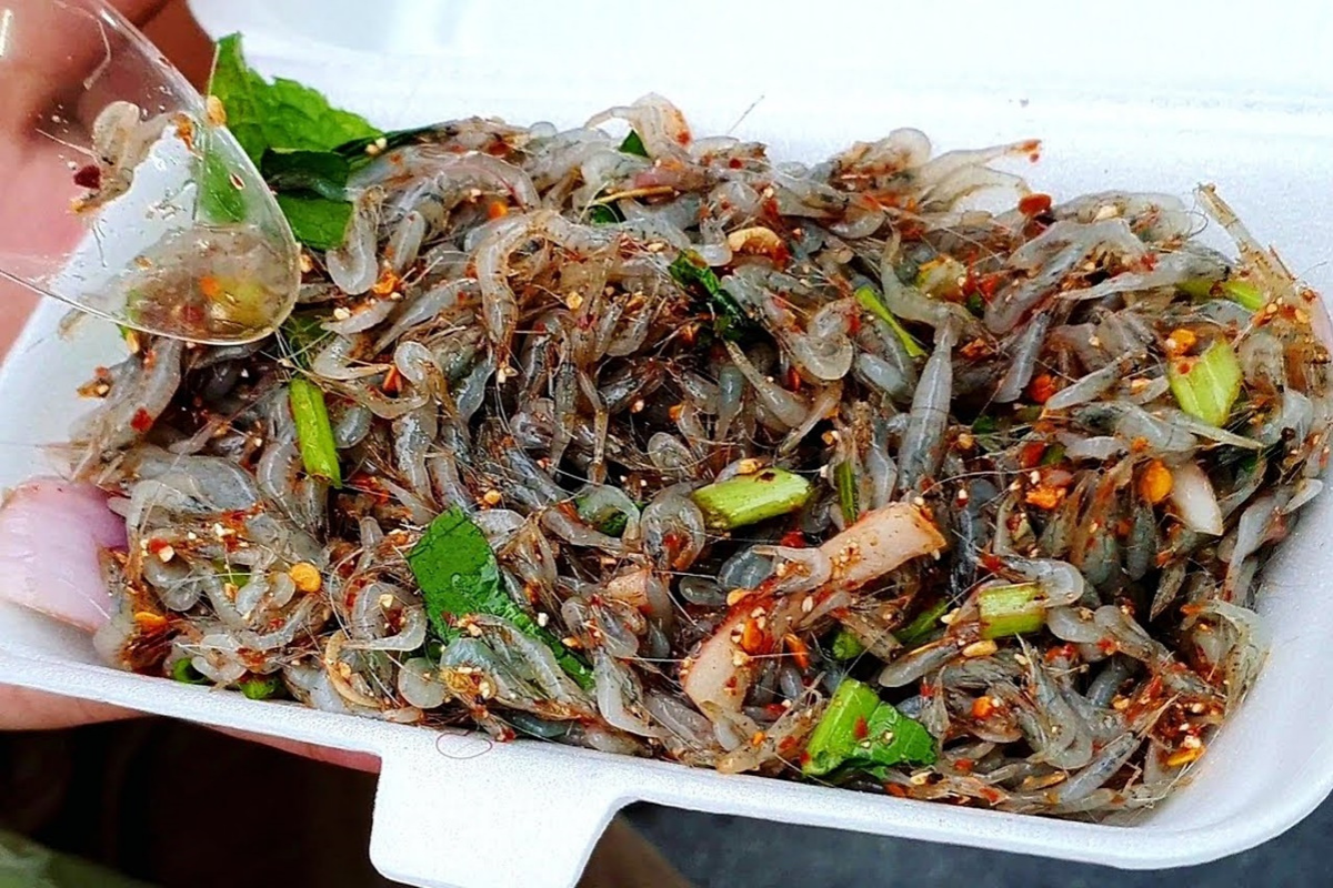 World's Most Bizarre Food: Goong ten from Thailand