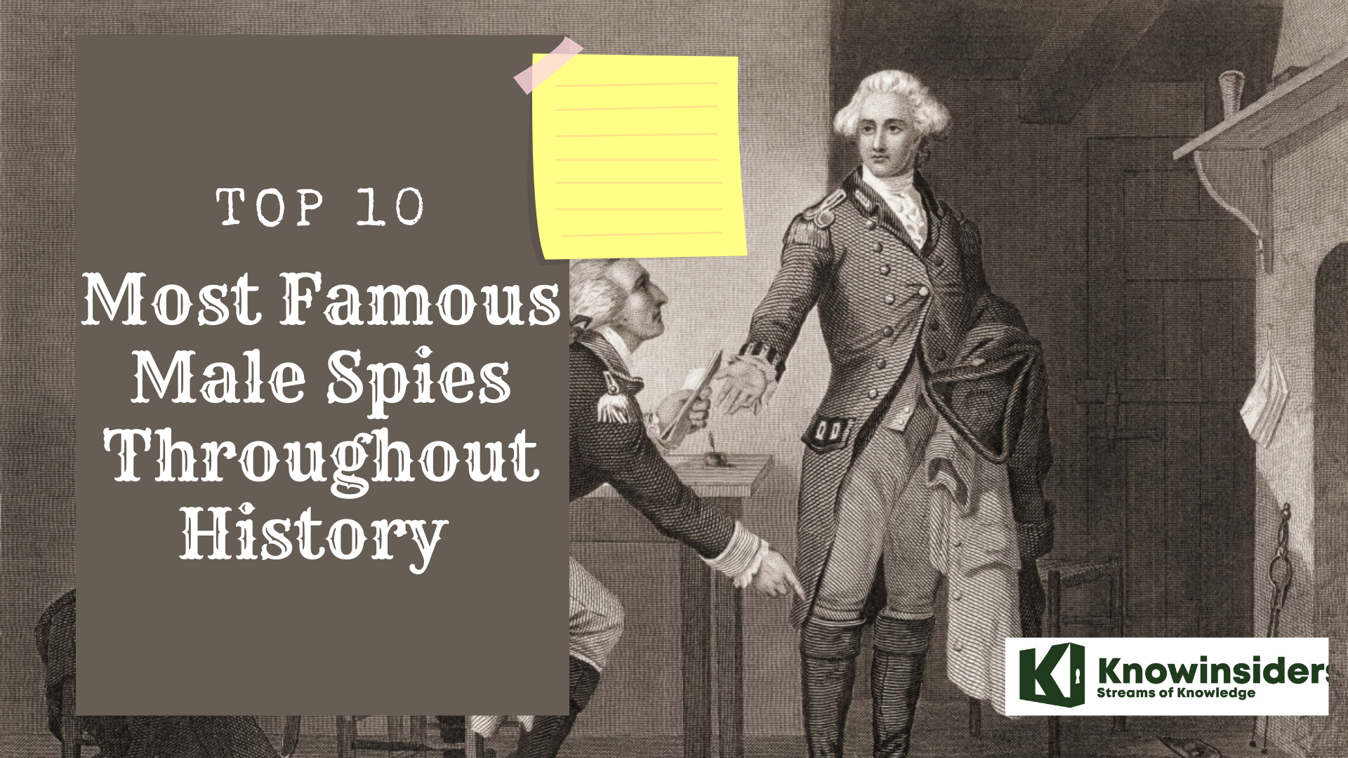 Top 10 Most Famous and Handsome Male Spies In The World Of All Time