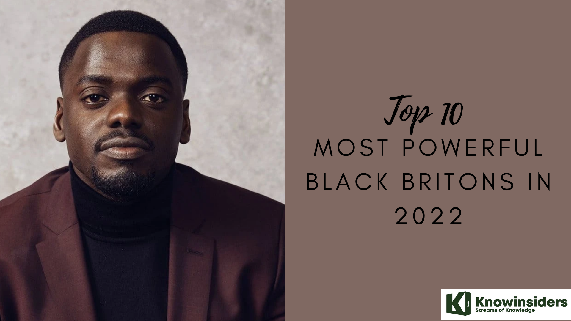 Top 10 Most Powerful Black Persons In The UK of 2022