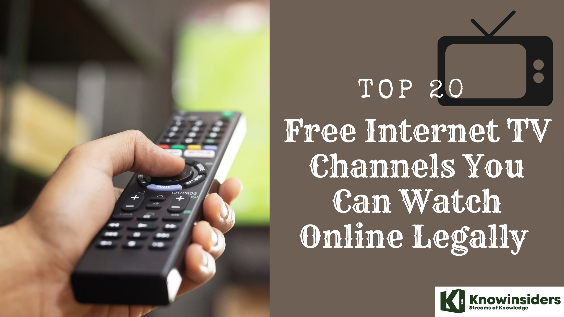 Top 20 Free Internet TV Channels You Can Watch Online Legally