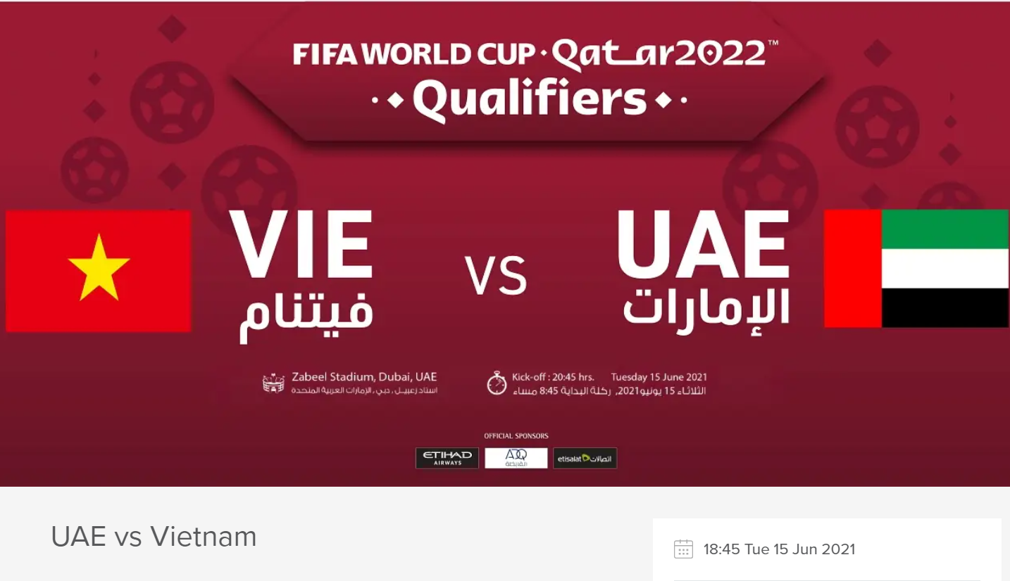 UAE vs VIETNAM: How to Watch for FREE, Live Stream, Online and TV Channel